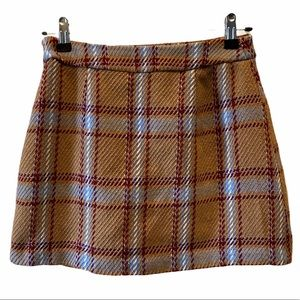 Forever 21 Contemporary Plaid Mini Skirt, size S